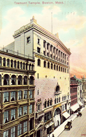 Vintage postcard front.Tremont Temple - Boston,Massachusetts