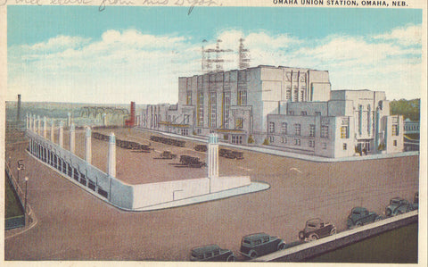 Omaha Union Station-Omaha,Nebraska 1935 - Cakcollectibles