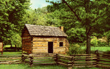 Front of vintage postcard.Abraham Lincoln's Boyhood Home,Knob Creek - Hodgenville,Kentucky