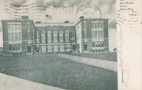 State Normal School-Salem,Massachusetts 1911 - Cakcollectibles