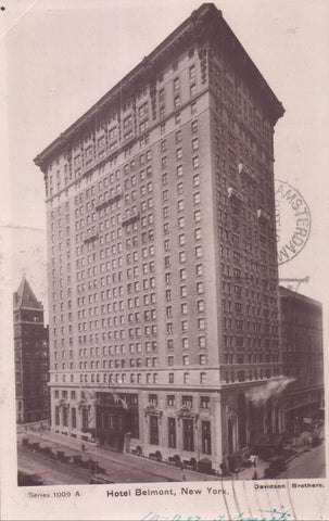 RPPC-Hotel Belmont-New York City 1907 - Cakcollectibles - 1