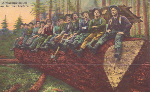 A Washington Log and Fourteen Loggers - Cakcollectibles - 1