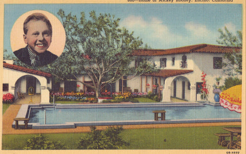 Home of Mickey Rooney-Encino,California - Cakcollectibles - 1