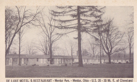 De Luxe Motel & Restaurant-Mentor,Ohio - Cakcollectibles - 1