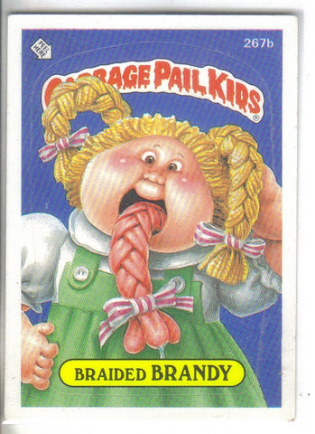 Garbage Pail Kids 1987 #267b Braided Brandy Garbage Pail Kids