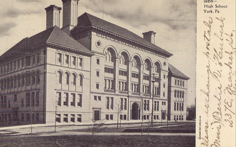 High School-York,Pennsylvania 1906 - Cakcollectibles - 1