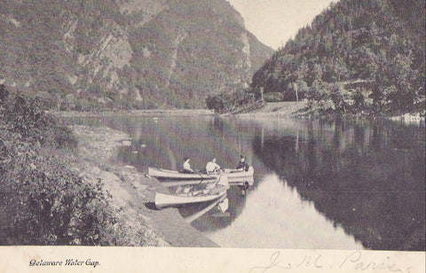 Canoeing,Delaware Water Gap-Pennsylvania 1907 - Cakcollectibles