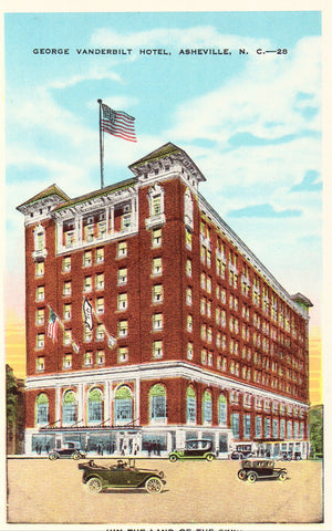 Old postcard front. George Vanderbilt Hotel - Asheville,North Carolina