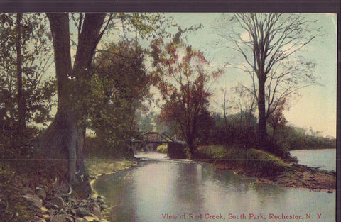 View of Red Creek,South Park-Rochester,New York 1909 - Cakcollectibles - 1