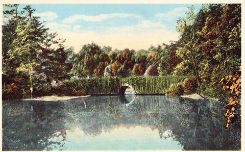 Vintage Postcard Front. Erskine Lake on Lynn Road - Tryon,North Carolina