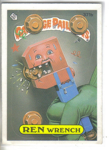 Garbage Pail Kids 1987 #371b Ren Wrench Garbage Pail Kids