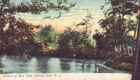 Glimpse of Deal Lake-Asbury Park,New Jersey 1906 - Cakcollectibles - 1