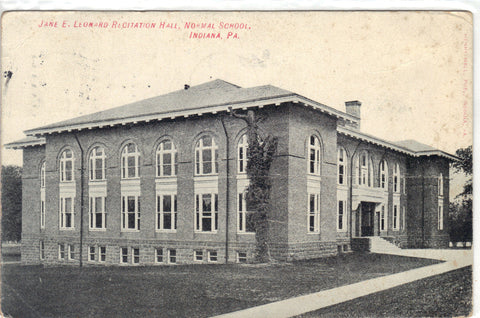 Jane E. Leonard Recitation Hall,Normal School-Indiana,Pa Post Card - 1