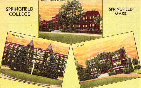 Multi View Postcard Front - Springfield College - Springfield,Massachusetts