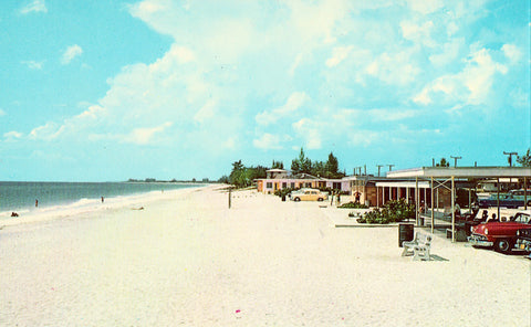 Vintage pOstcard Front. Snow-White Sands - Nokomis Beach,Florida