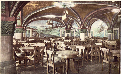 The Norse Room,Fort Pitt Hotel - Pittsburgh,Pennsylvania. Vintage postcard front