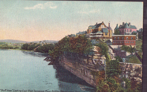 """Bluff View"",Looking East from Tennessee River Bridge-Chattanooga,Tennessee 1909 - Cakcollectibles - 1"