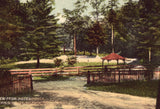 Vintage postcard front. View from Hotel Porch - Colvin's White Sulphur Springs,Pennsylvania