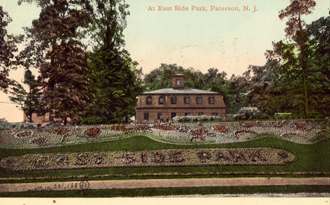 Vintage postcard front. At Eastside Park - Paterson,New Jersey