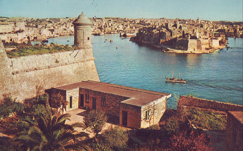 View of Grand Harbour with Senglea in Background-Malta - Cakcollectibles - 1