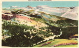 Linen Postcard Front - Loveland Pass,Colorado