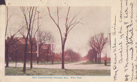 Thomas Avenue,West End-Fort Leavenworth-Kansas 1905 - Cakcollectibles