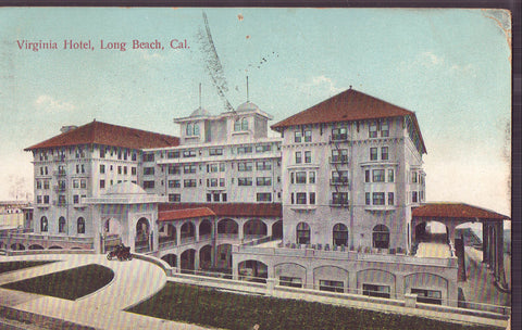 Virginia Hotel-Long Beach,California 1909 - Cakcollectibles