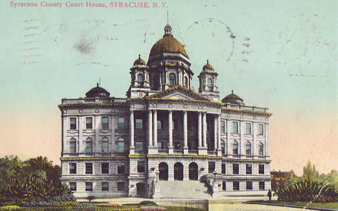 Syracuse County Court House-Syracuse,New York  1909 - Cakcollectibles - 1