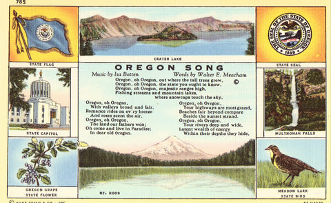 Multi View Postcard Front - Oregon Song