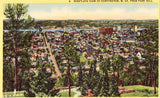 Linen postcard front. Bird's - Eye View of Huntington,West Virginia from Park Hill