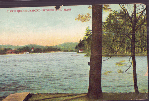 Lake Quinsigamond-Worcester,Massachusetts 1909