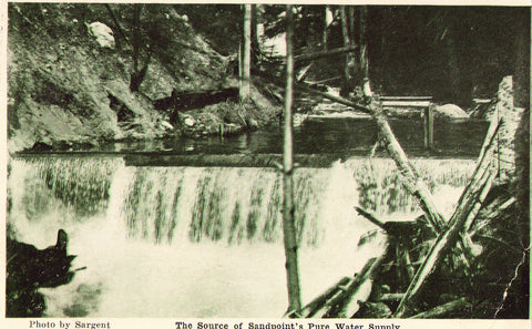 Vintage Postcard front- The Source of Sandpoint's Pure Water Supply - Idaho