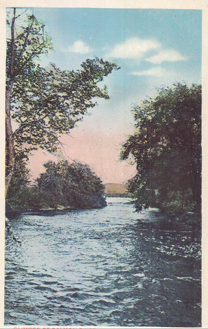 Glimpse of Salmon River,Looking East - Malone,New York 1918
