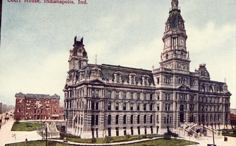 Vintage postcard front - Court House - Indianapolis,Indiana