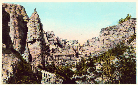 Cupola Rocks and Wall - Bad Lands,South Dakota