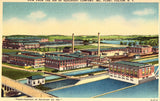 Linen postcard front - Aerial View of Sealright Co.,Inc. - Fulton,New York