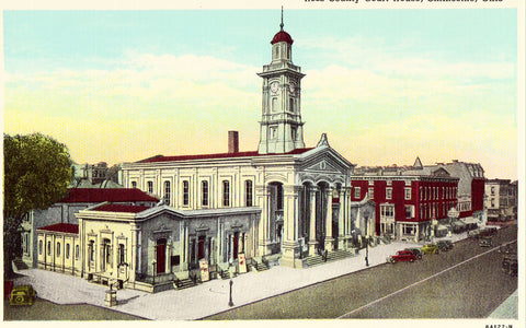 Vintage postcard front - Ross County Court House - Chillicothe,Ohio