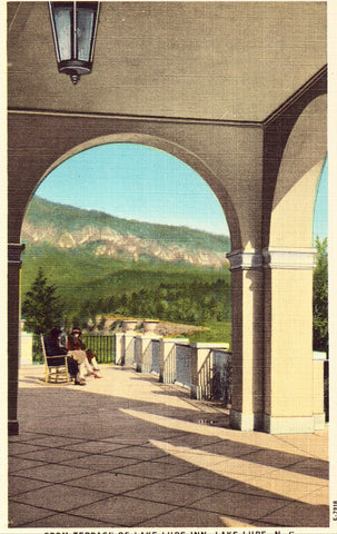 View of Rumbling Bald Mt. from Lake Lure Inn - North Carolina