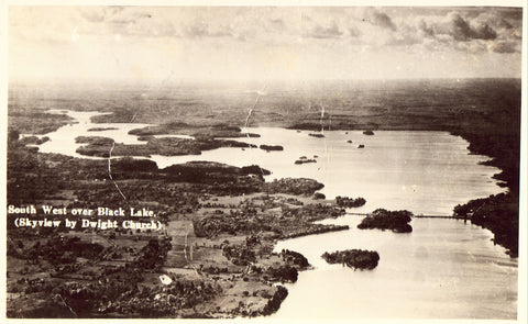 RPPC Front - South West Over Black Lake - New York