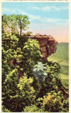 Linen postcard Sunset Rock,Lookout Mountain - Chattanooga,Tennessee