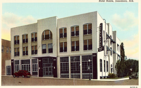 Vintage postcard Hotel Noble - Jonesboro,Arkansas