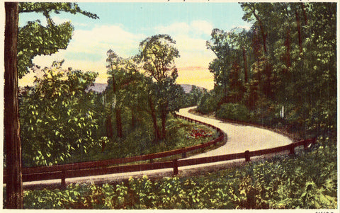 "Vintage postcard ""S"" Curve on Highway 40 near Monteagle,Tennessee"