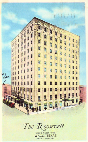Linen postcard The Roosevelt Hotel - Waco,Texas