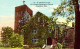 Vintage postcard St. Michael's and All Angels Episcopal Church - Anniston,Alabama