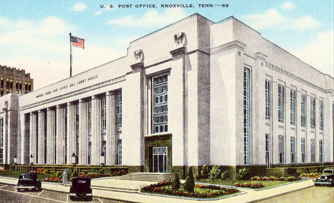 Vintage post card U.S. Post Office - Knoxville,Tennessee