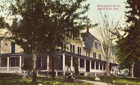 Antique postcard Maplewood Hotel - Green Lake,Wisconsin