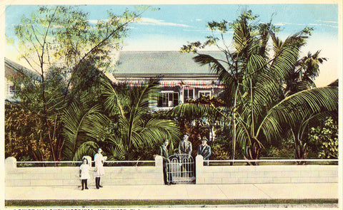 Vintage postcard Louise Maloney Hospital - Key West,Florida