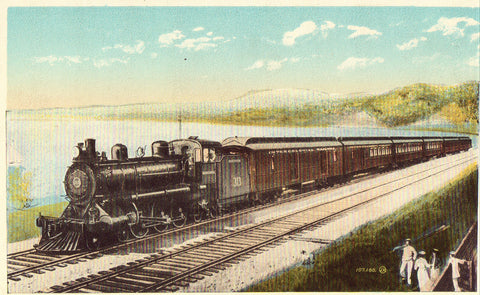 "Vintage train postcard C.G.R. Express ""Ocean Limited"""