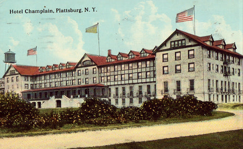 Vintage New York postcard Hotel Champlain - Plattsburg,New York