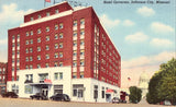 Linen Missouri postcard Hotel Governor - Jefferson City,Missouri